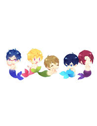 free iwatobi swim club chibi. Modren Club Iwatobi Swim Club With Fishy Tails Free  Chibi Mermen U003d Kawaii To Free L