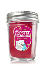 frosted cranberry candle bath and body works frosted cranberry mason jar candle home fragrance 1037181 bath