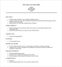 MD Physician Doctor Resume Free PDF Download