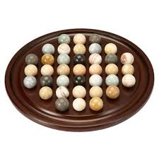 Wooden Solitaire Game With Marbles Marble solitaire sometimes called Venetian solitaire is designed 85