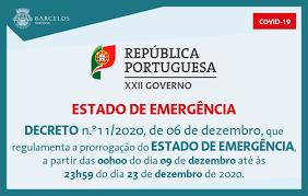 Decreto n.º11/2020, de 6 de dezembro, que regulamenta a prorrogação do  Estado de Emergência
