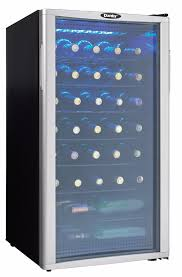 danby 3 2 cu ft wine cooler black with platinum dwc350blp