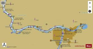 Snake River Lower Granite Lake Side B Marine Chart