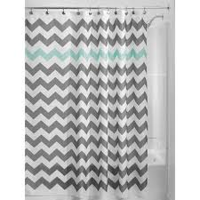 blue and white chevron shower curtain. grey aqua blue white chevron polyester fabric 72-inch shower cur and curtain i