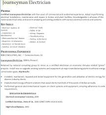 Residential Electrician Resume Journeyman Electrician Resume Samples ...