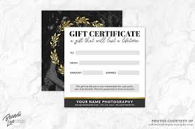 Photography Gift Certificate Template Photography Gift Certificate Template