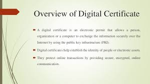 Digital Certificate Impact Of Digital Certificate In Network Security