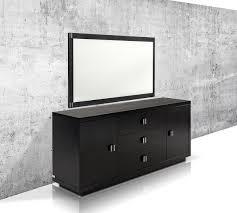ax bellagio modern black crocodile lacquer dresser
