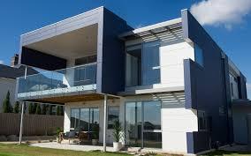 Modern Mixed Material Facade Double Storey Home Scyon Wall Cladding Cool Modern Exterior Cladding Panels Concept Property