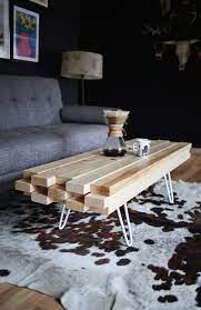 This rustic pine wood coffee table should do the trick. Diy Wooden Coffee Table A Beautiful Mess