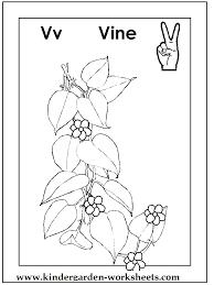 Kindergarten Worksheets: ASL coloring pages - Alphabet V