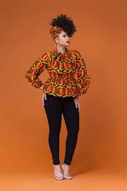 African Trousers Designs Toya African Print Peplum Top Grass Fields Match It With A