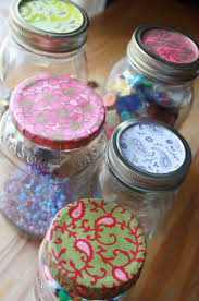 Decorate Mason Jar Lids The Sweet Spot Howto Pimp your Mason Jars 2