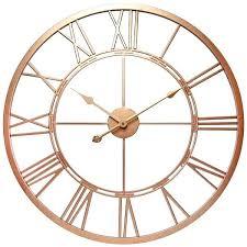 infinity instruments wall clock infinity instruments champagne a in rose gold wall clock infinity instruments 9 inch square retro wall clock