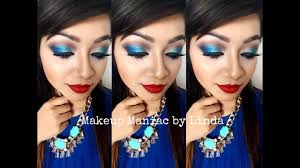 dramatic blue eye makeup tutorial maniac by linda you
