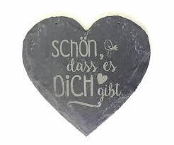 Schieferherz Schiefer Herz Spruch Schön Das Es Dich Gibt Geschenk