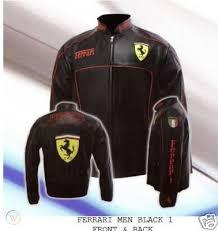 100% quality driven motorbike leather jackets. Ferrari Leather Jacket Motorcycle Biker Men 7styles New 107204716