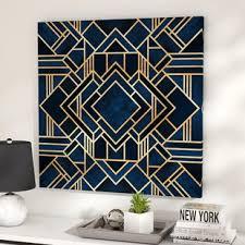 new art deco furniture. \u0027Art Deco III\u0027 Graphic Art Print On Canvas New Furniture