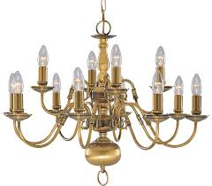 solid antique brass flemish 12 light chandelier