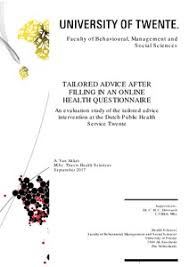 Tailorded Advice After Filling In An Online Health