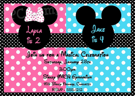mickey and minnie invitation templates free printable mickey and minnie twin birthday invitations template