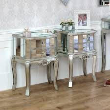 image great mirrored bedroom furniture. Pair Mirrored Venetian Bedside Cabinet Lamp Table Bedroom Furniture Silver Glass Image Great E