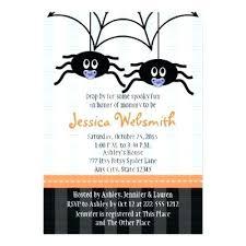 Halloween Baby Shower Invitation Template Baby Shower Invitations