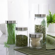 Modern Kitchen Canister Sets Modern Glass Canister Set Pretty Glass Kitchen Canisters