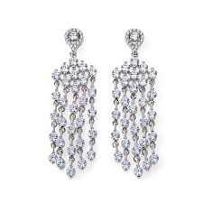 absolute 8 24ctw cubic zirconia chandelier earrings