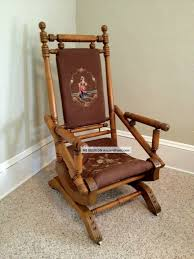 antique rocking chairs upholstered platform rockers unique models interesting item more adorable best stunning round rattan wooden