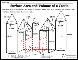 The answer is shape dependent. Surface Area Volume Unit 11 Surface Area And Volume Of A Castle Freebie