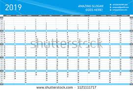 Yearly Calendar Planner Template Free Desktop Calendar 2018 Template Illustration Download Free