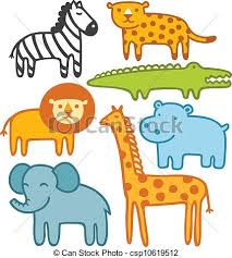 wild animals clipart. Unique Animals Wild Animals Vector Illustration Set In Clipart A