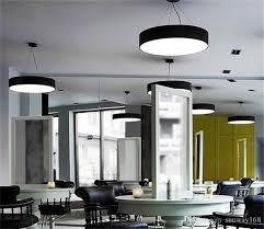office pendant light. Modern Minimalism Led Hanging Lights Suspension Lighting Office Pendant Light Matte Metal Round Pendnat Fixtures Ac85 265v Silver D