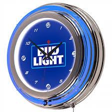 bud light royal neon clock