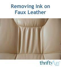 removing ink on faux leather thriftyfun