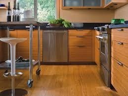 inspiring bamboo kitchen flooring ideas along with metal roller kitchen island