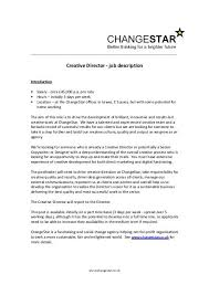 director job description creative director job description changestar
