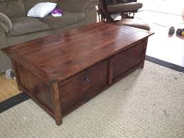 20 sec tidy up coffee table with trundle toy box storage