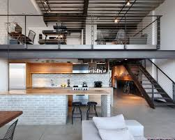 Small urban galley concrete floor and gray floor open concept kitchen photo  in Seattle with an