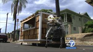 Small Picture Man builds tiny mobile house for homeless woman abc7chicagocom