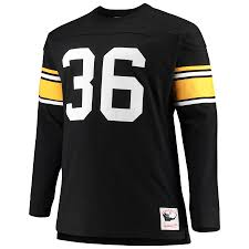 Ness amp; Retired Long Name Black Bettis Player Steelers Mitchell Top Sleeve Big Tall Jerome Pittsburgh Number