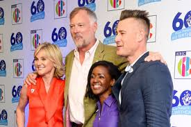 Former blue peter presenter jokes the time may come when she has to sell her cardboard and p.v.a glue creation. Anthea Turner John Leslie Pictures Photos Images Zimbio