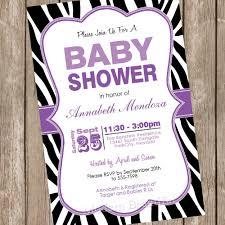 Black And Purple Invitations Purple Black And White Baby Shower Invitations Baby