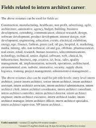 Architecture Intern Resume Sample Architectural Intern Resume