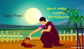 best pongal greeting pictures and images happy pongal tamil w illustration