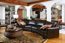 living room ideas with leather sectional. Magnificent Rustic Leather Sectional Sofa Living Room Design Ideas Brown With I
