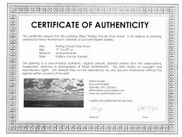 Certificate Of Authenticity Template Best Certificate Of Authenticity Autograph Template Unique Magnificent