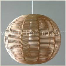 rattan lamp shade pendant ceiling lighting fixture 6