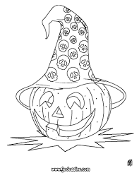 Coloriages Coloriage D Une Citrouille Avec Un Chapeau De Sorci Re